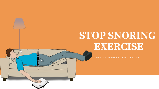 Stop Snoring Exercise